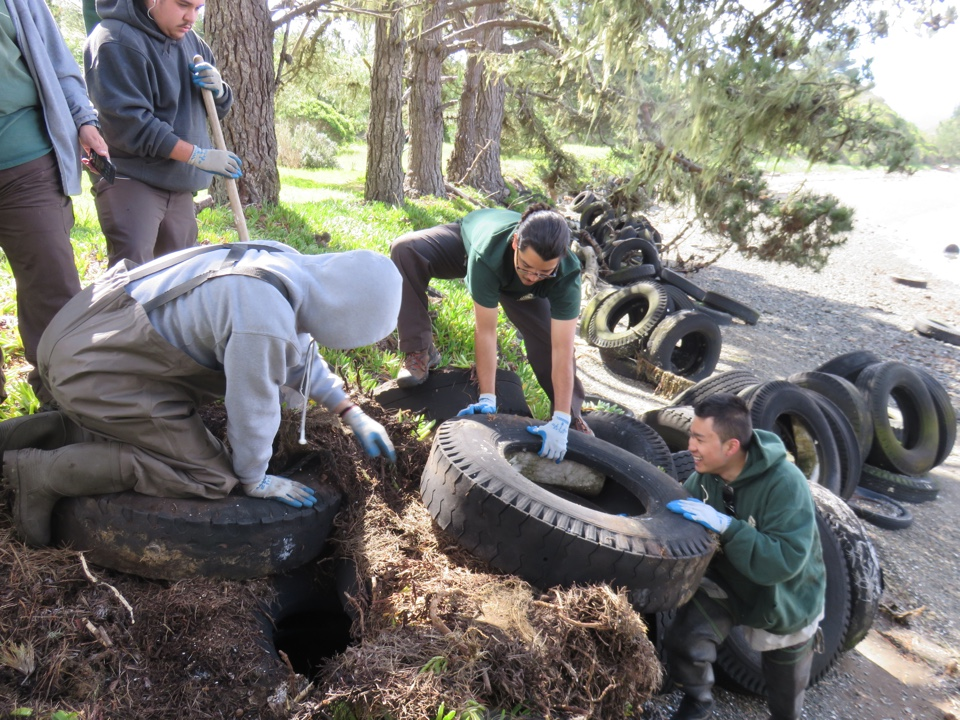 Conservation Corps North Bay Used Tire Collection