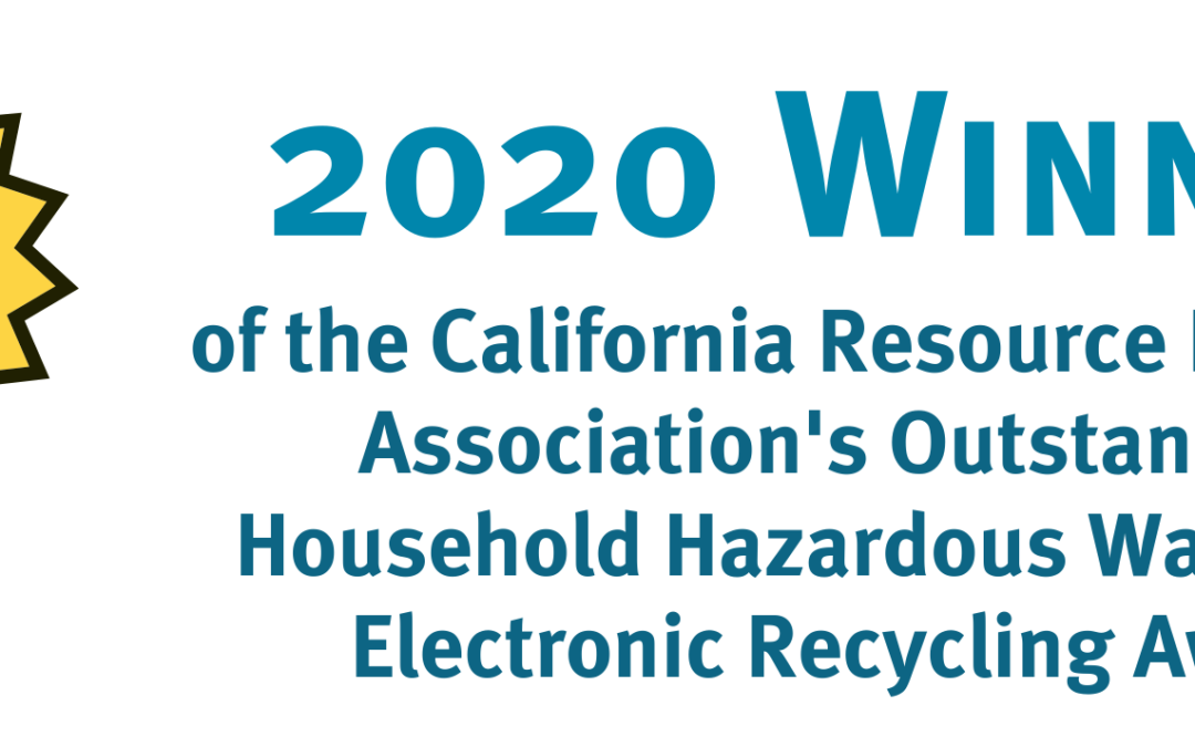 CRRA presents CCNB and Zero Waste Sonoma with the 2020 Outstanding Electronic Recycling Award