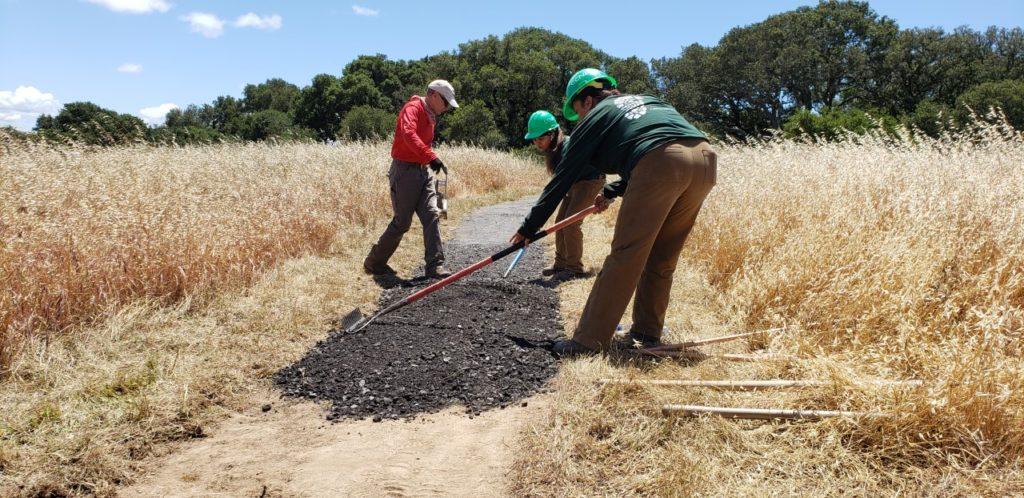 Helen Putnam trail work